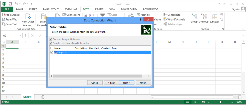 Excel's Data Connection Wizard